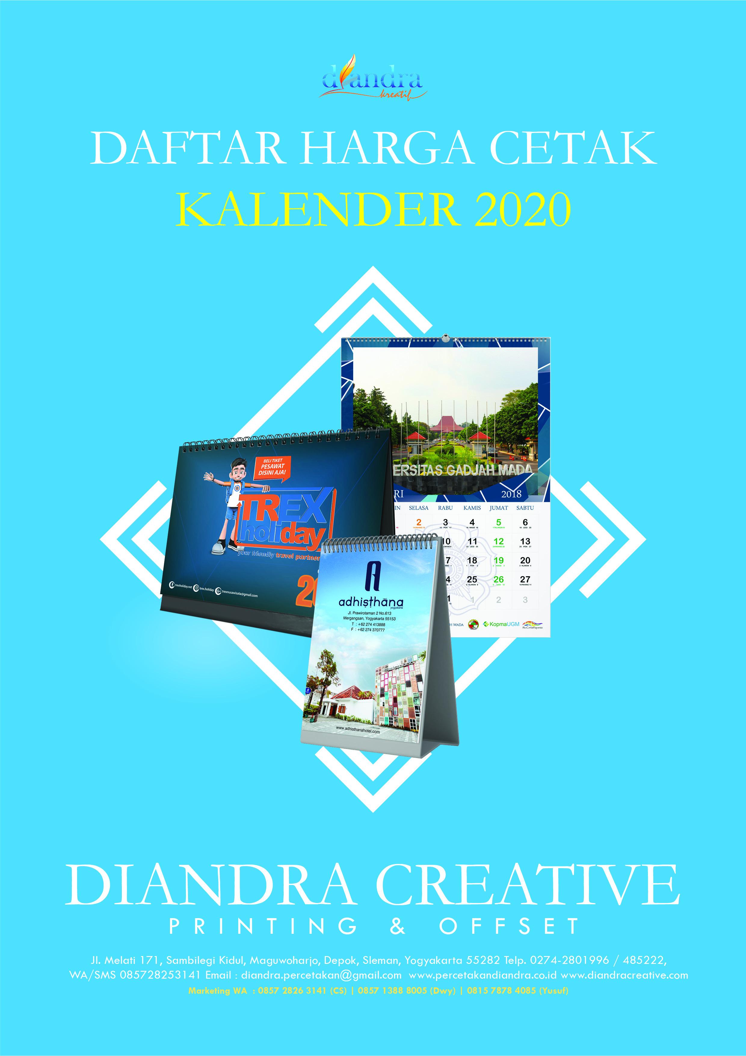 Kalender Dinding Diandra