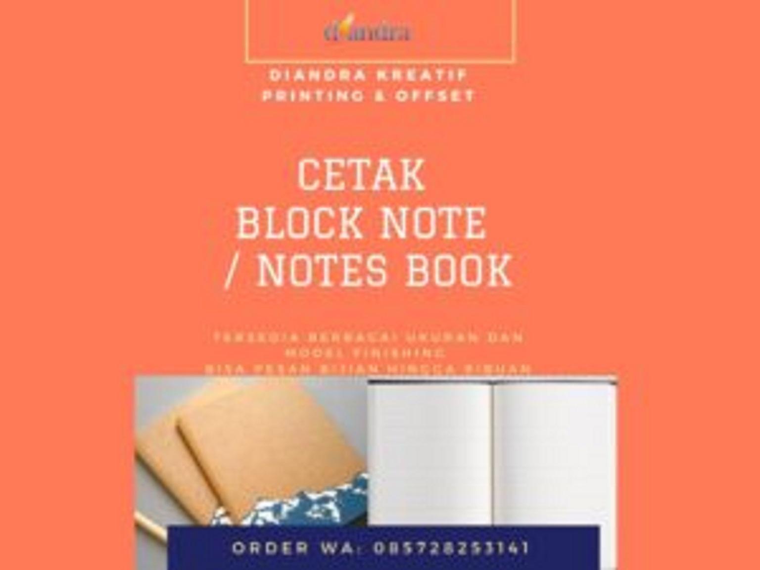 Cetak Block Note